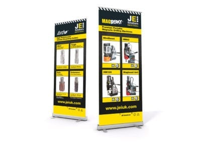 Roller banners for drilling machinery