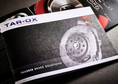 Recycled landscape brochure for Tarox Brake Solutions