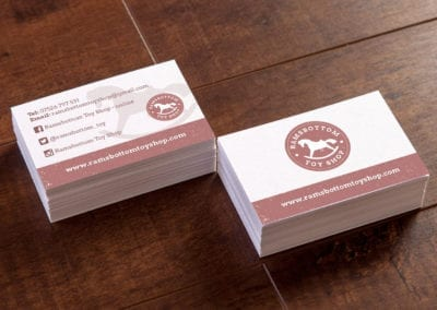 Vintage style business Cards for Ramsbottom Toy Shop