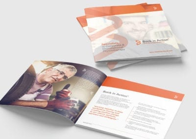 Square brochure for occupational physiotherapy
