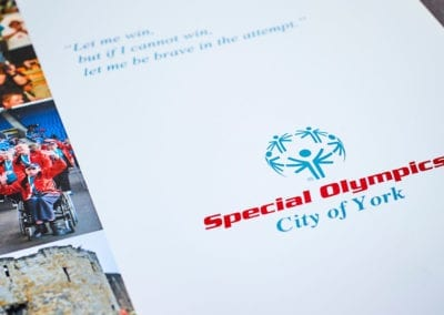 Folder and inserts for Special Olympics
