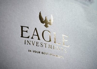 Gold foil printing on letterheads