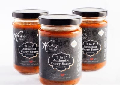 Label design for Kais curry sauce jars