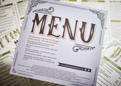 Square restaurant menus