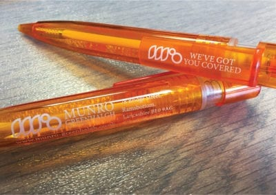 Orange personalised printed pen