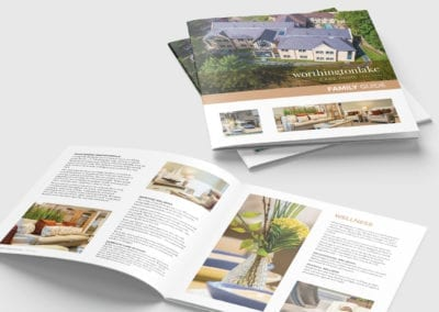 Square brochure for care home