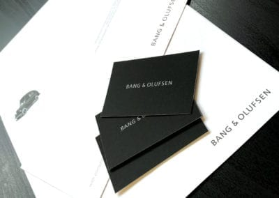 Stationery package for Bang and Olufsen